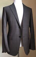 New $3095 Ermenegildo Zegna High Performance Suit Brown Switzerland 38US (48 EU)