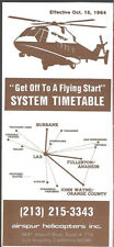 Airspur Helicopters system timetable 10/15/1984 [8051] Buy 2 Get 1 Free
