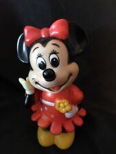 Vintage MINNIE MOUSE PLASTIC BANK Walt Disney Productions