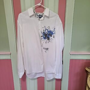 Desigual Men 2XL Floral Print Shirt