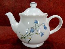 More details for * small sadler harebell blue flora 0.75 pint single person teapot - free uk post