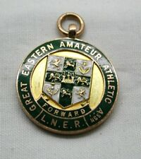 1920's L.N.E R. 9 carat Gold And Enamelled Gt Eastern Railway Athletics Medal