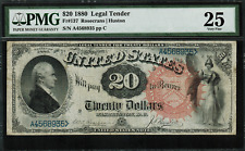"1880 $20 Legal Tender FR-137 - ""Hamilton"" - PMG 25 - Very Fine - RARE!!"