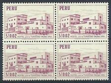 Peru 1952 Sc# 457 Tourist hotel Tacna block 4 MNH