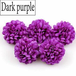 100X 5cm Artificial Silk Daisy Flowers Heads Buds Petals Bouquets Craft Decor