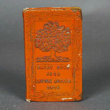 """Vintage Little Book Coin Bank """"Great Oaks from Little Acorns Grow"""" Leather Bound"""