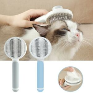 Pet Massage Self Cleaning Slicker Comb One Key Button Cat-Dog Hair Removal Brush
