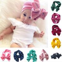 Baby Girls Headband Velvet Bow Hairband Head Elastic Band Kids Hair Accessories