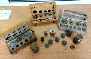 Job Lot Vintage ANTIQUE Weights Inc gold/silver Weights
