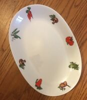 Z & Co Bavaria Tirschenreuth White China TIR152 VEGETABLE PAINTED PLATTER 12X8""