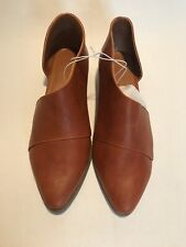 UNIVERSAL THREAD Wenda Faux Leather Cognac Brown Cut Out Booties Womens 11W