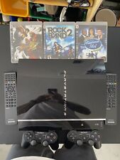 Sony PS3 PlayStation 3 60GB Black Console Plus  Controllers And Games !!!!