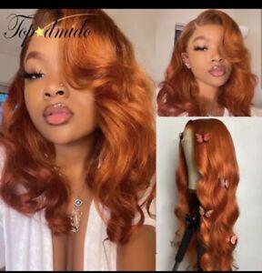 Custom color ginger  loose wave Custom Made Wig BRITTAINE inspired Orange color wig