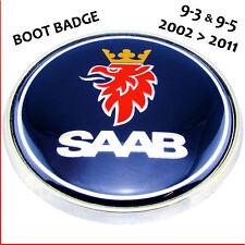 Saab 93 95 Arranque Tronco Insignia Logotipo Azul 68mm 2 Pin emblema trasero 9-3 9-5 12759590