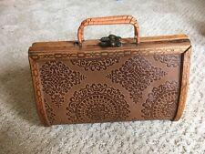 Bohemian style wooden handbag
