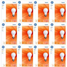 NEW GE 13255 40W A19 General Purpose Light Bulbs White 4 Bulbs (12 Pack)
