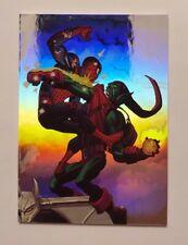 2017 Fleer Ultra Spider-Man vs Green Goblin Holoblast Hologram