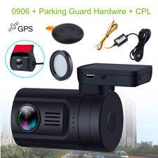 Mini 0906 Dual lens 1080P Car Dash Camera GPS DVR Rear cam +Hard Wire+CPL lens