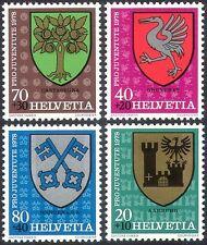 Switzerland 1978 Coats-of Arms/Welfare Fund/Castle/Bird/Tree/Keys 4v set n42542