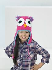 Kids Create Your Own Owl Pink Easy Crochet Hat Kit 4 to 8 Years