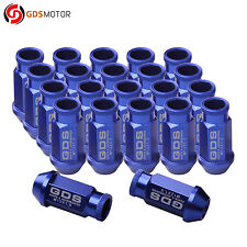 GDS 20pcs 50mm Extended Racing Wheel Lug Nuts M12x1.5 for Ford Fiesta Focus Blue