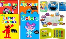 Sesame Street Ready For Pre School Lot  Work Books Stickers Activities Puzzle