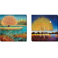 Jewel River & Evening Stream by Melissa Graves-Brown 2-pc Canvas Giclee Art Set