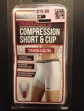 "Franklin Compression Short & Cup Teen LG - XL (28-31"" Waist) Quad-Flex II ~ NEW"