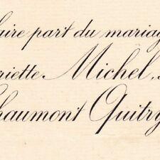 Anne Marie Henriette Michel Paris 1887 Chaumont Quitry