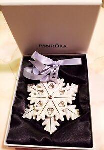 1 X Pandora Christmas Snowflake or stocking Ornament