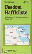 Touristenkarte Usedom  Haffküste