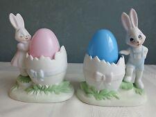 Porcelain - Easter Bunny Rabbit Egg Cup Holders - Leggo