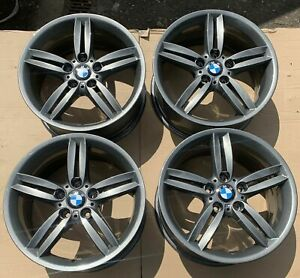 "Genuine BMW 208M 18"" Alloy Wheels Ferric Grey E36 E46 E81 E82 E85 E86 E87 E88 Z4"