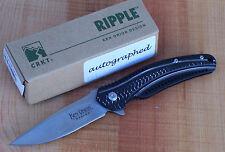 CRKT K415KXPS KEN ONION SIGNATURE RIPPLE FLIPPER FOLDING KNIFE IKBS BEARING NEW