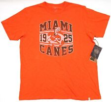 NEW Forty Seven Brand University Of Miami Hurricane Vintage Canes Logo T-Shirt