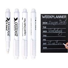 Popular White Liquid Chalk Pen 4mm Marker For Glass Window Chalkboard Blackboard