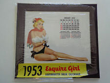 1953 Esquire Girl Leatherette Desk Calendar/Chiriaka + 10 '54 inserts INV2508
