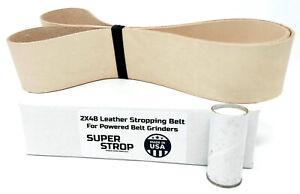 2X48 inch Super Strop Leather Honing Strop Belt fits 2x48 Belt Sanders