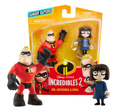 The Incredibles 2 Mr. Incredible & Edna Junior Supers Figures New in Package