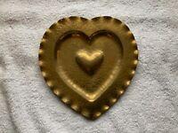 Solvang California Vintage Brass Heart Wall Hanger Hummel Metalcraft