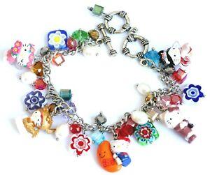 Pretty Hello Kitty Animal Charm Bracelet (Adjustable) Y - #004