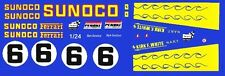 #6 Sunoco Ferrari 512M 1971 1/25th - 1/24th Scale Waterslide Decals