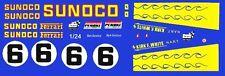 #6 Sunoco Ferrari 512M 1971 1/25th - 1/24th Scale Waterslide Decals