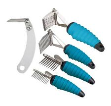 Ergonomic Dog Grooming Tools - Dematting Combs Rakes and Splitters for Dogs