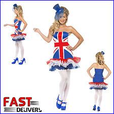 XS Union Jack Dress Fever's Rule Britannia TuTu Jubilee Olympics Fancy Dress