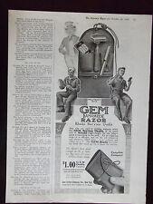 1918 Gem Damaskeene Razor Military No. 7 Khaki Service Outfit Advertisement