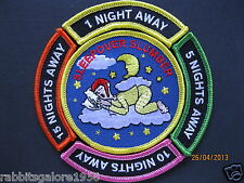 RAINBOWS/BROWNIES/GIRL GUIDES:~ SLEEPOVER SLUMBER & NIGHTS AWAY ~ FIVE FUN BADGE