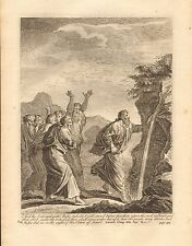1770  ANTIQUE PRINT -BIBLE- AND THE LORD SAID UNTO MOSES,BEHOLD I WILL STAND BEF