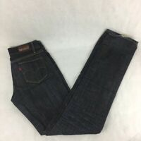 Levis Capital E Womens Ruler Low Slim Straight Jeans Blue Zip Stretch Vintage 25
