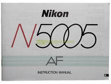 Nikon N5005 (F401x) user manual, original, english. Nikon 5005 instructions.